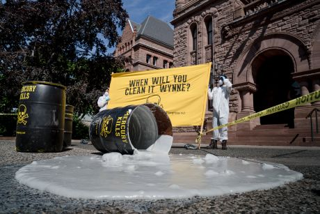"""Toxic"" spill at Queen's Park"