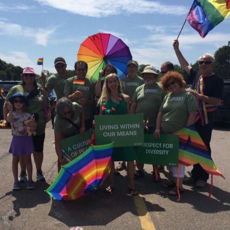 PEI Green supporters. Photo Green Party of PEI Facebook