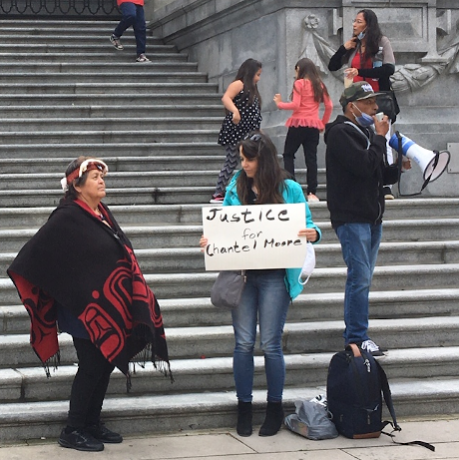 Justice for Chantel Moore rally in Vancouver