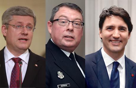 Stephen Harper, Mark Norman, Justin Trudeau