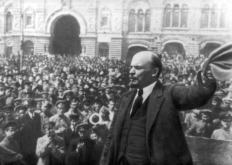 Lenin and crowd