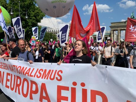 Anti-racist protest in Germany May 19