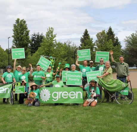 Green supporters, photo by Nanaimo—Ladysmith Green Party