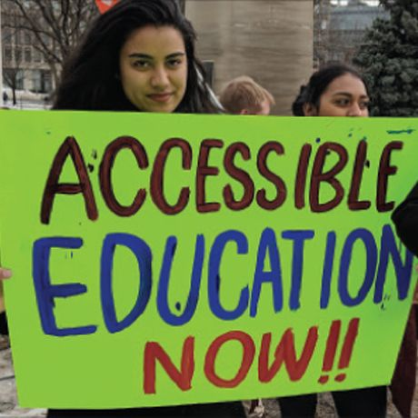 Students protest Ford's cuts to education