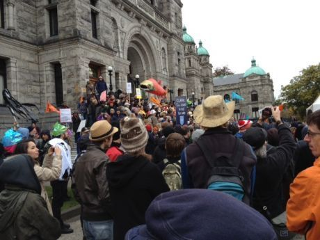 Rally to stop the pipeline in Victoria, BC.
