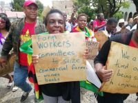 South African solidarity action against repression in Zimbabwe
