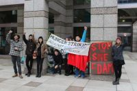 Hunger strikers and supporters defending Treaty 8 Nation lands