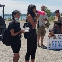 Black Lives Matter on Toronto beach