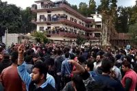 Kashmiri students in Dehradun protest after hostel managers forced some of them from their lodgings just as far right mobs hunted them