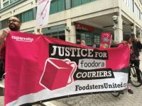 Foodora couriers march for justice