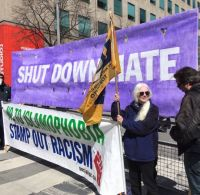 Anti-racist protesters surrounded and shut down the bigots in Toronto