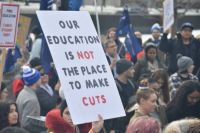 February 4 Toronto rally against cuts to education, photo by  Kevin Taghabon