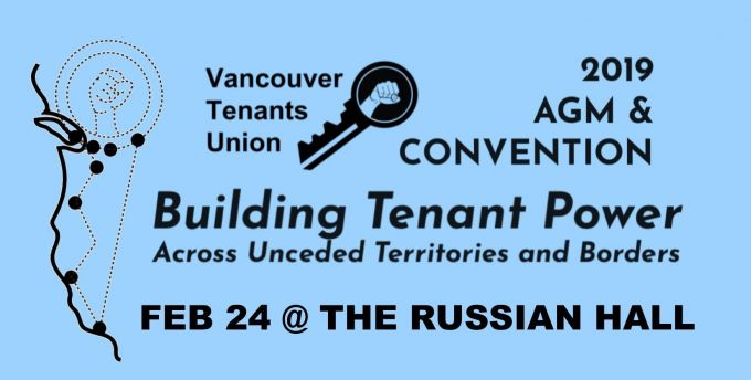 Vancouver Tenants Union AGM  and convention