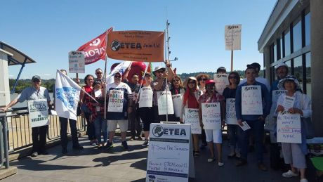 ETEA local 11 instructors and supporters in New Westminster