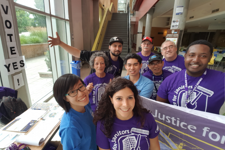Janitors at UBC - Okanagan voted 90% in favour of joining a union