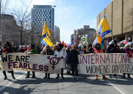 International Women's Day  in Toronto. Photo by Judy Vashti Persad
