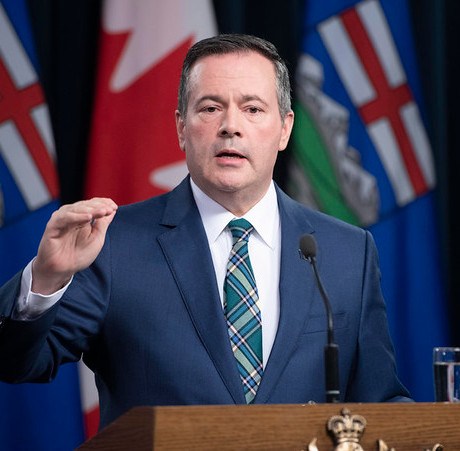 Kenney destroys jobs, lives and the planet. Image CC BY-NC-NC 2.0 Government of Alberta