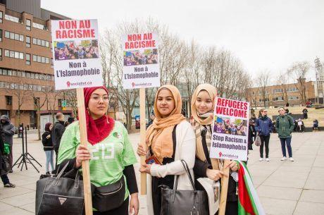 Demonstratio against Quebec's Bill 21 banning religious symbols