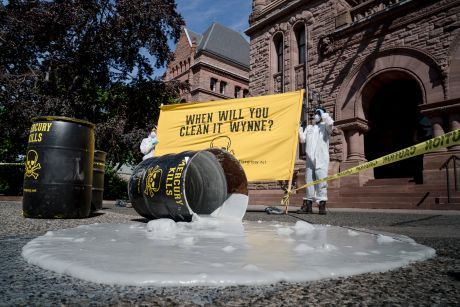 """""""Toxic"""" spill at Queen's Park"""