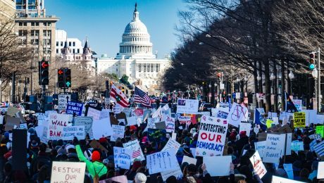 Rally in Washington DC against travel ban. Photo by Ted Eytan