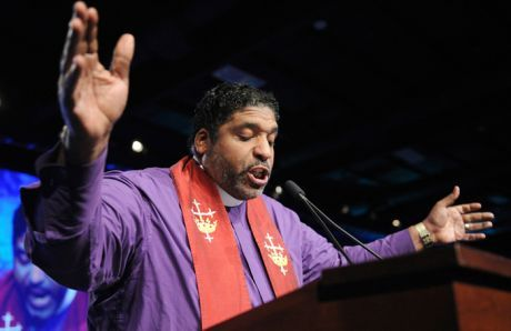 Reverend William Barber addresses a United Steelworkers convention