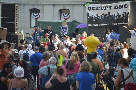 Occupy DNC - photo by Kevin Taghabon