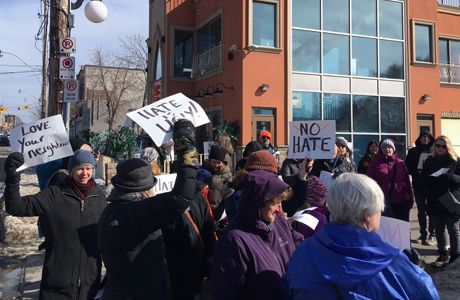 Community members protest hate in Toronto