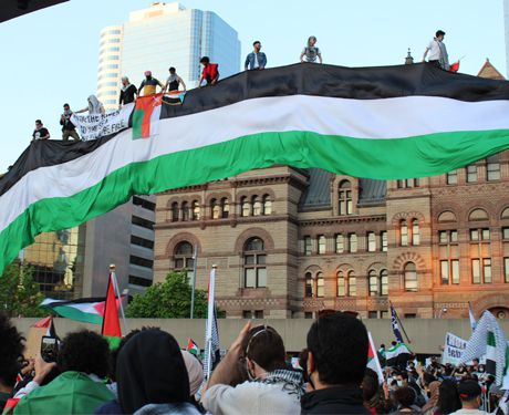 Palestine solidarity rally in Toronto