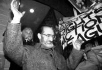 Rally outside Morgentaler Clinic January 28, 1988